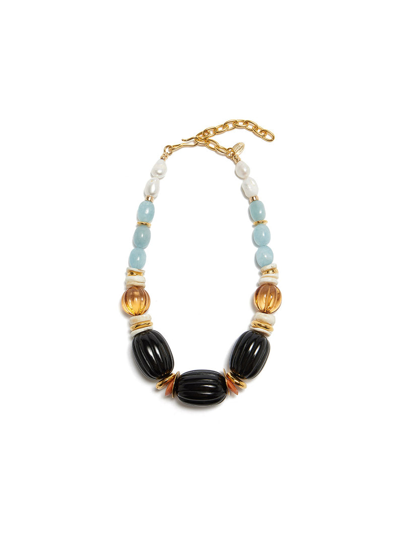 LIZZIE FORTUNATO VILLA NECKLACE