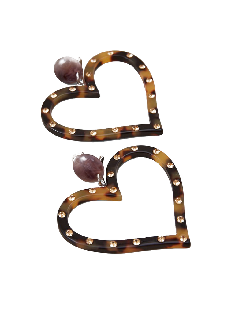 RACHEL COMEY Affection Earring Tortoise-Rhinestone