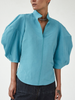 RACHEL COMEY Amplus Balloon Sleeve Top w/ V-neck