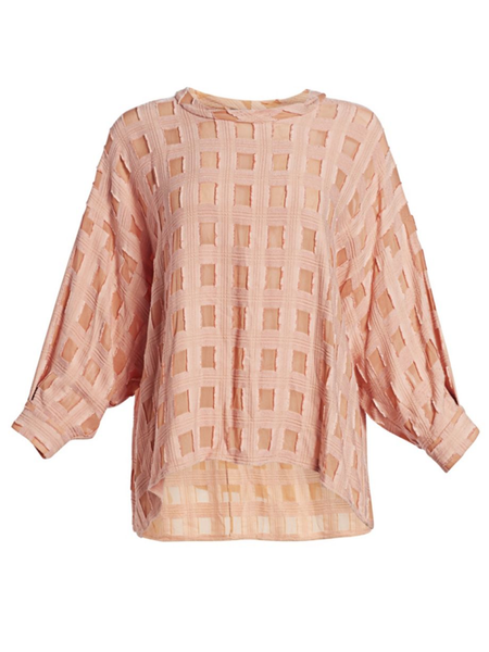 RACHEL COMEY Fond Long Sleeve Check Blouse