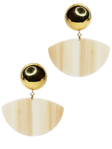 RACHEL COMEY Susa Earrings - Striped Bone/Gold