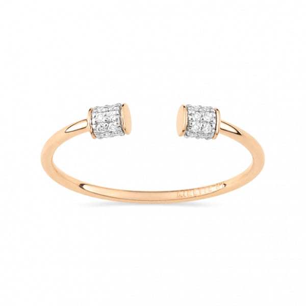 GINETTE NY Single Diamond Choker Ring 18K Rose Gold