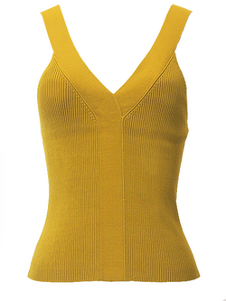 ROKH Knitted V-Neck Vest - Lime Green