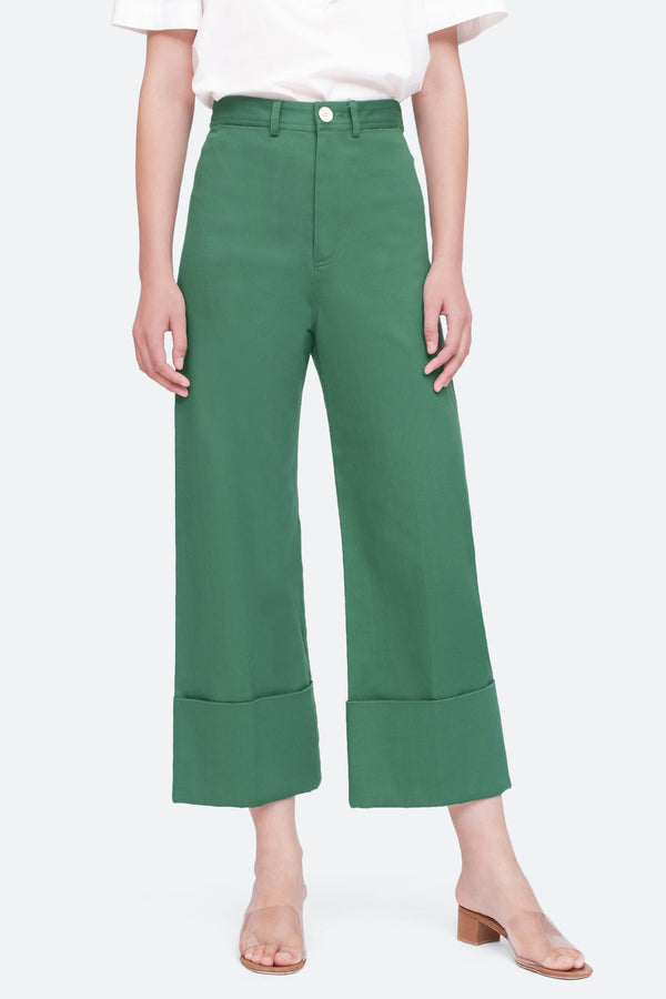 SEA Corbin Cropped Cuff Pants
