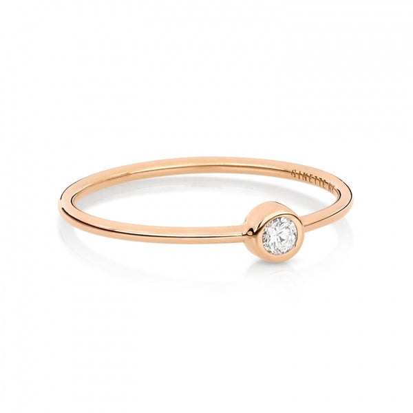 GINETTE NY Lonely Diamond Ring 18K Rose Gold