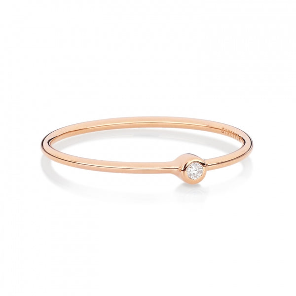 GINETTE NY Mini Lonely Diamond Ring 18K Rose Gold