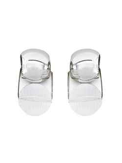 RACHEL COMEY Toca Earrings - Clear/Silver