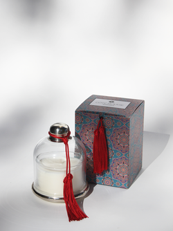 COTE BOUGIE Candle Cloche in Rouge Cedre de L'Atlas
