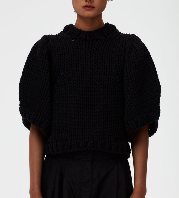 TIBI Deluxe Tube Yarn Open Knit Sweater