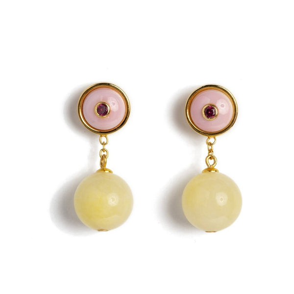 LIZZIE FORTUNATO Yolo Earrings - Sorbet