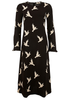 STINE GOYA Dove Print Long Sleeve Clara Dress