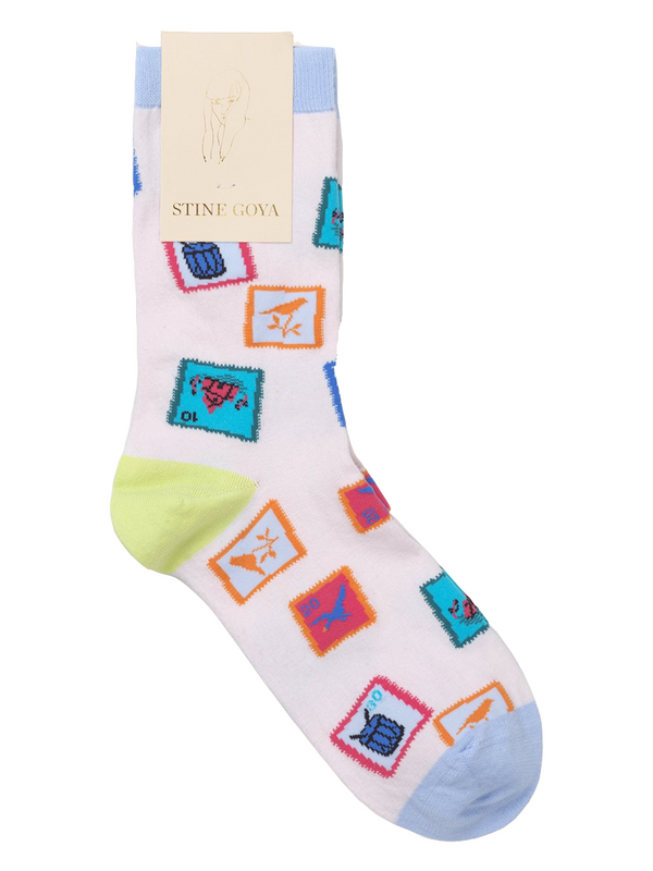 STINE GOYA Iggy Socks - Stamps