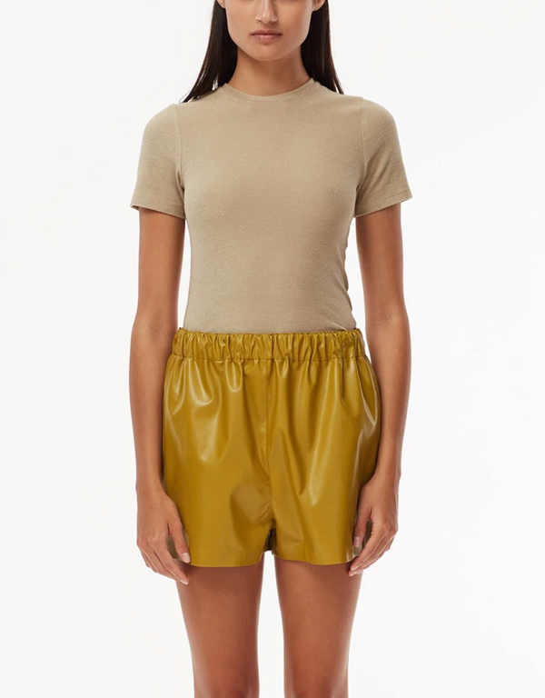 TIBI Dry Loop Terry Baby T-Shirt - Tan