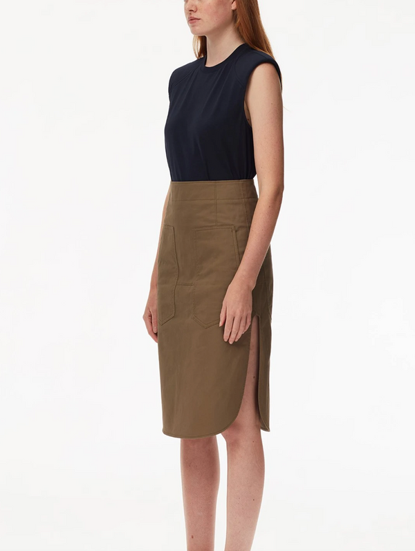 TIBI Myriam Twill Pencil Skirt