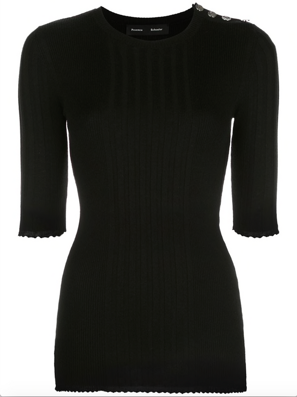 PROENZA SCHOULER Silk Cashmere Knit Top - Black