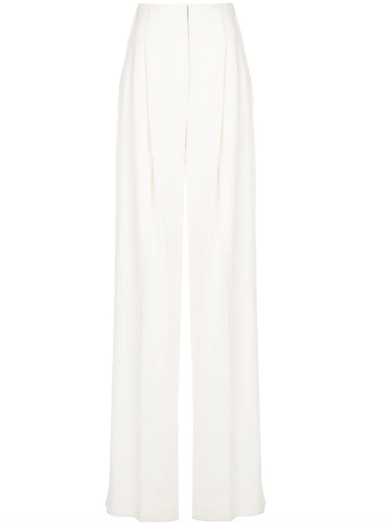 PROENZA SCHOULER Textured Crepe High Waisted Pants