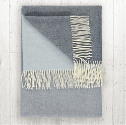 TWIG Freja Denim Cashmere & Lambswool Throw