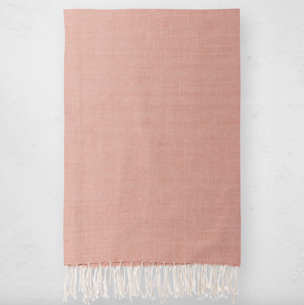 Bole Road Textile Solid Throw - Dusty Rose
