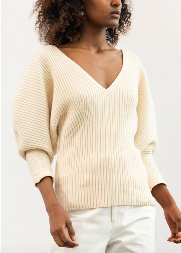 MARA HOFFMAN Olla Sweater - Cream