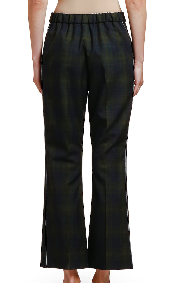 MARNI Plaid Wool Cropped Trouser
