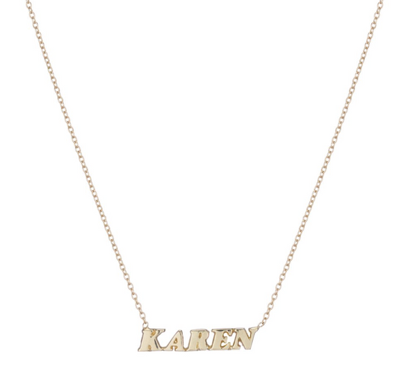 "ARIEL GORDON Name It Necklace - ""Karen"""