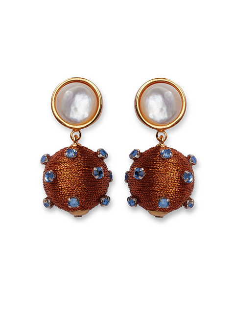 LIZZIE FORTUNATO Sparkler Earrings in Amber