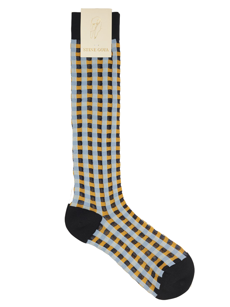 STINE GOYA Coco Socks - Gingham Orange