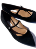 TABITHA SIMMONS Hermione Black Kid-Suede Flat