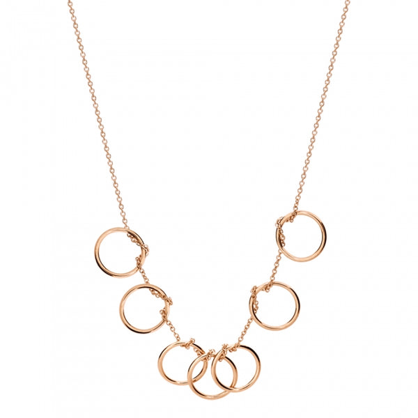 GINETTE NY Tiny Circles Rose Gold Necklace