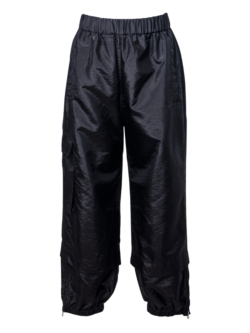 TIBI Crispy Nylon Pull On Jogger - Black