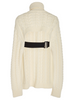 TIBI Cable Sweater Turtleneck Bareback