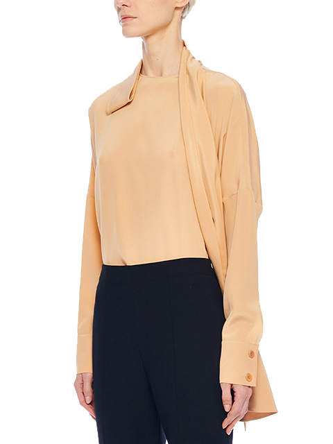 TIBI Heavy Silk CDC Dolman Top