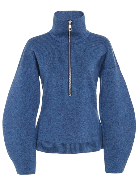 TIBI Sculpted Melange Wool Sweater