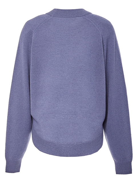 TIBI Spring Cashmere Open Sleeve Sweater - Slate