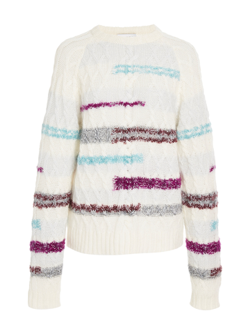 Tanya Taylor CABLE LORA KNIT TOP