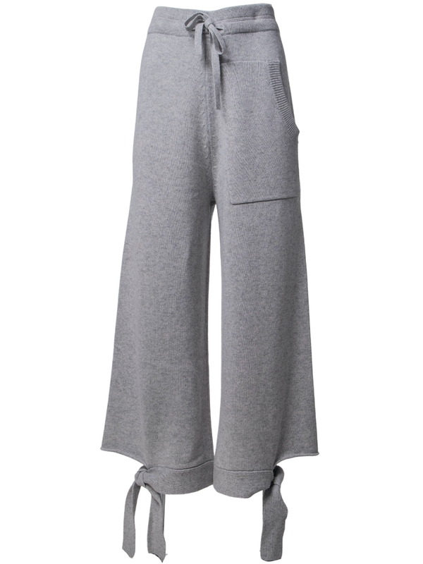 TIBI Cashmere Heather Grey Lounge Sweatpants
