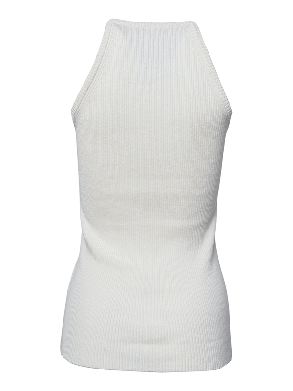 TIBI Sleeveless Cotton Sweater Top - White