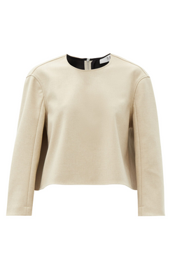 TIBI Bonded Flannel Crop Top