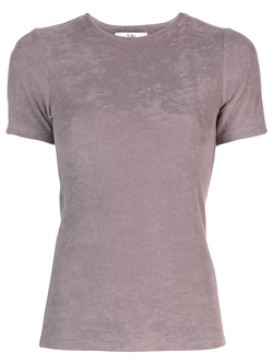 TIBI Dry Loop Terry Baby T-Shirt - Dusty Plum
