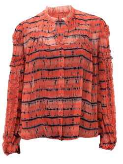 ULLA JOHNSON Mari Blouse - Chili Tie Dye
