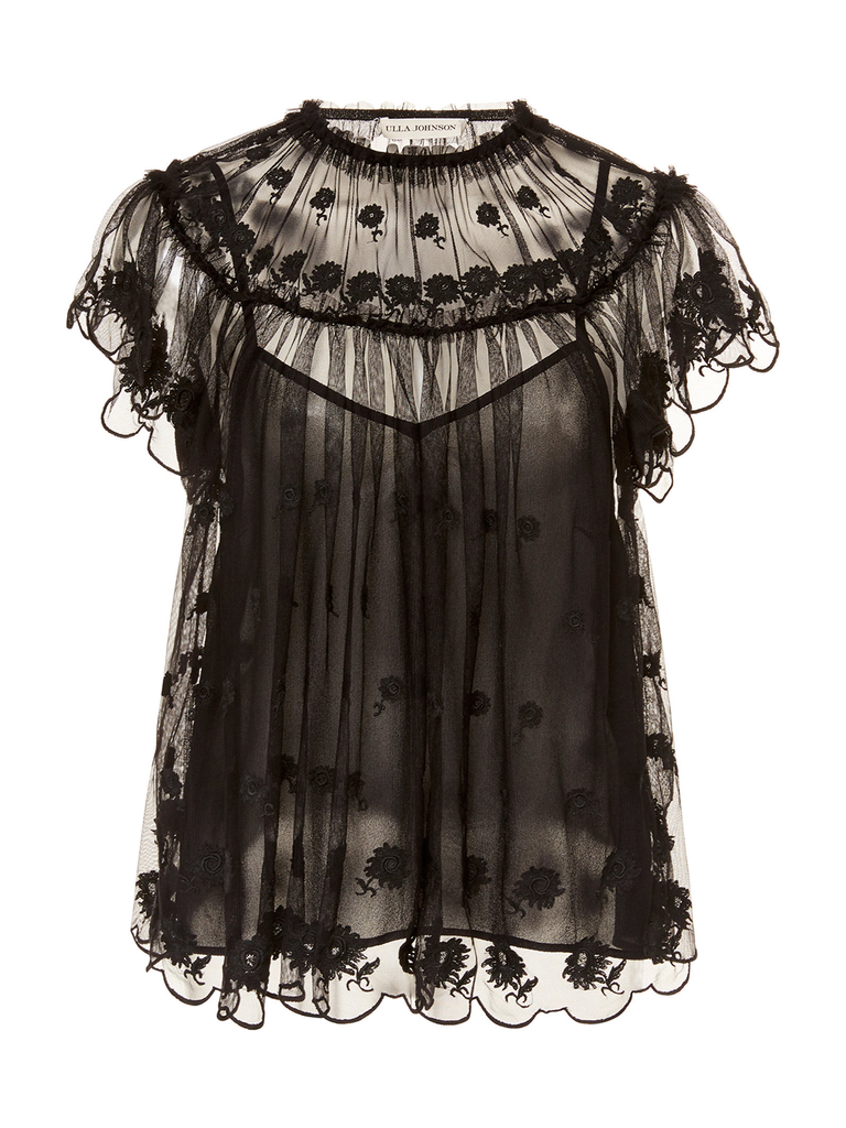 ULLA JOHNSON BISOU TULLE BLOUSE