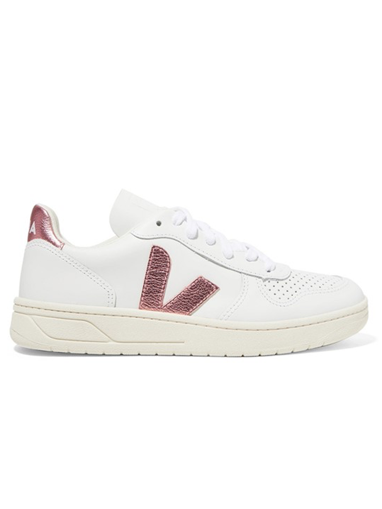 VEJA Leather Nacre Sneakers V-10