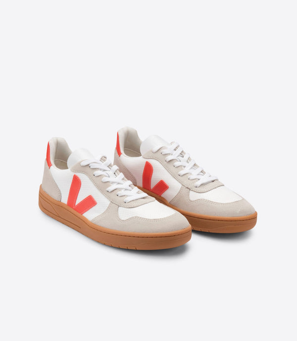 VEJA V-10 B-Mesh Orange White Sneakers