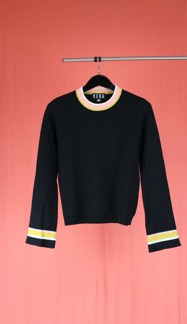 VEDA Karma Cotton Sweatshirt - Black