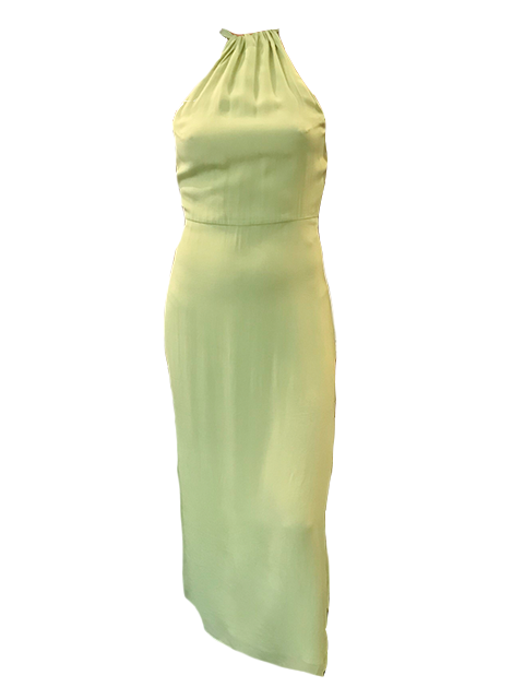 VEDA Corona Crepe Dress in Sage