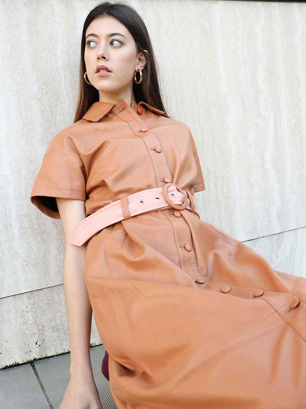VEDA Yam Leather Dress