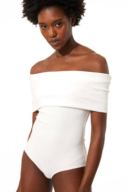 MARA HOFFMAN Lorraine Off-Shoulder Bodysuit