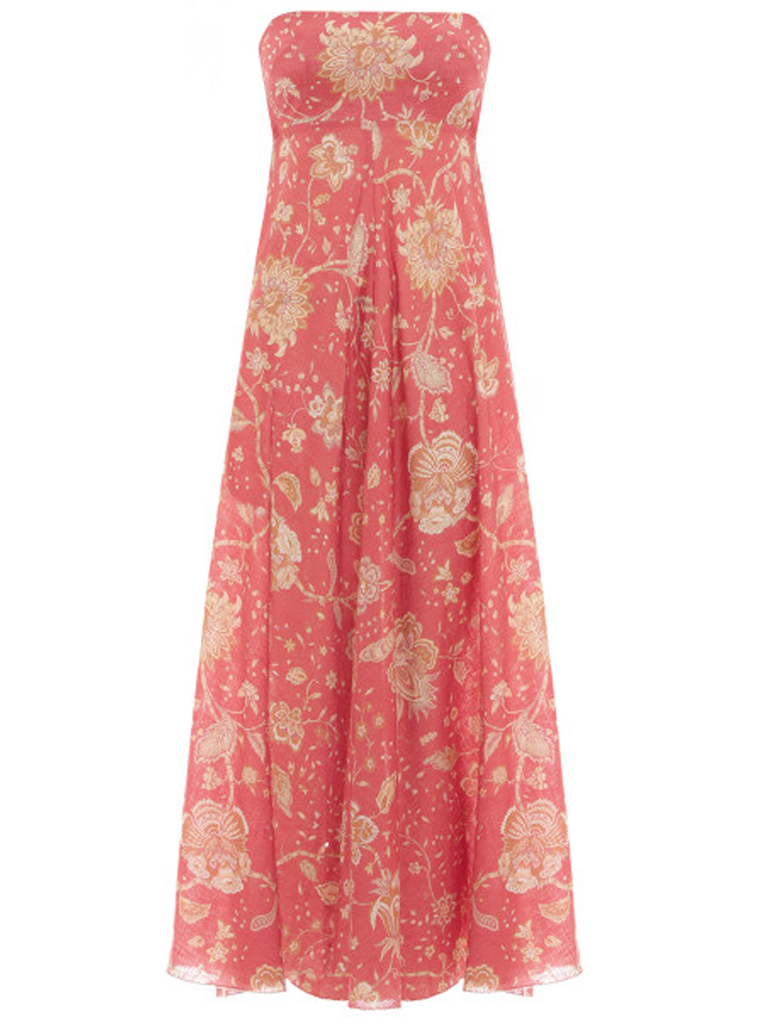 ZIMMERMANN Veneto Strapless Long Dress