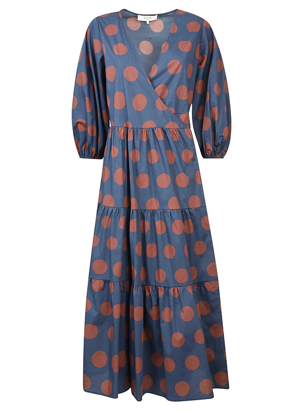 SEA Penny Tired Wrap Dress