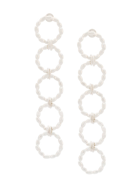 BEA BONGIASCA rice hoop drop earings